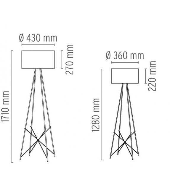 Ray F1 & F2 Lampadaire Flos