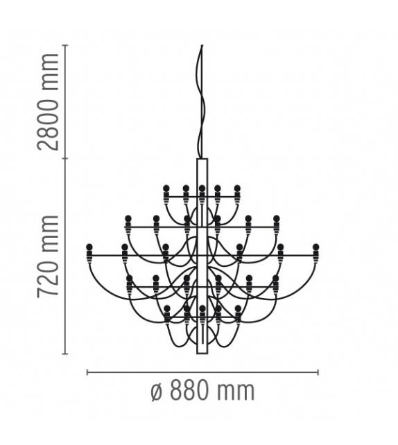 2097 / 30 Lámpara De Suspensión Flos