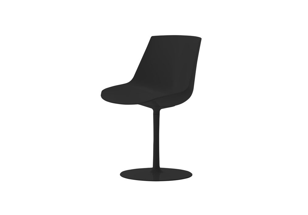 flow chair with central leg mdf italia milia shop. Black Bedroom Furniture Sets. Home Design Ideas