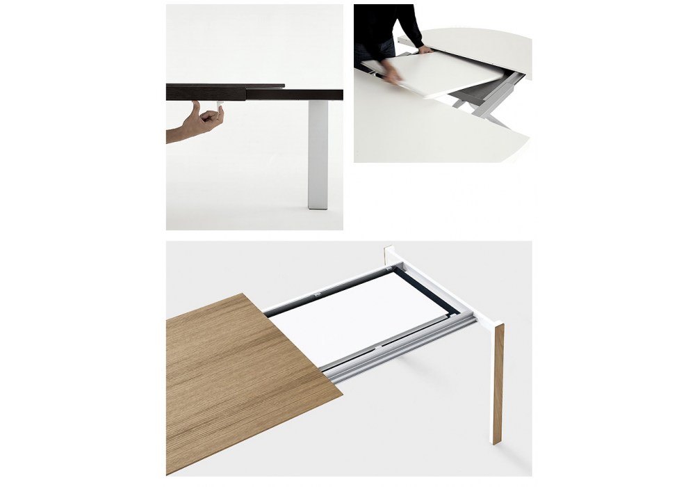 Thin k extendable table in wood kristalia milia shop for Table extensible kristalia