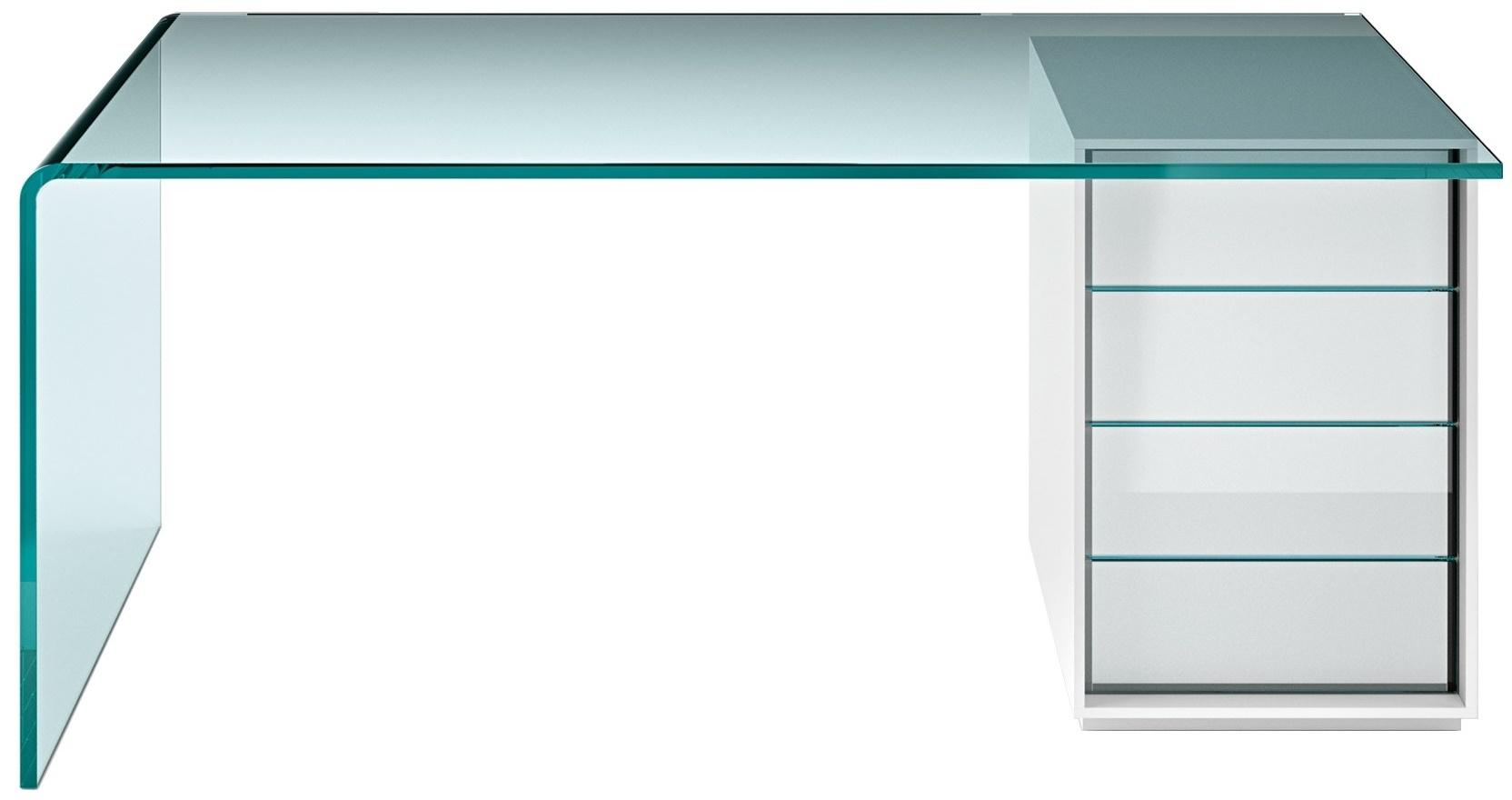 Trendy rialto l scrivania fiam with scrivanie vetro for Scrivanie in vetro e acciaio
