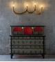 The Four Bulb Wall Light Scarlet Splendour