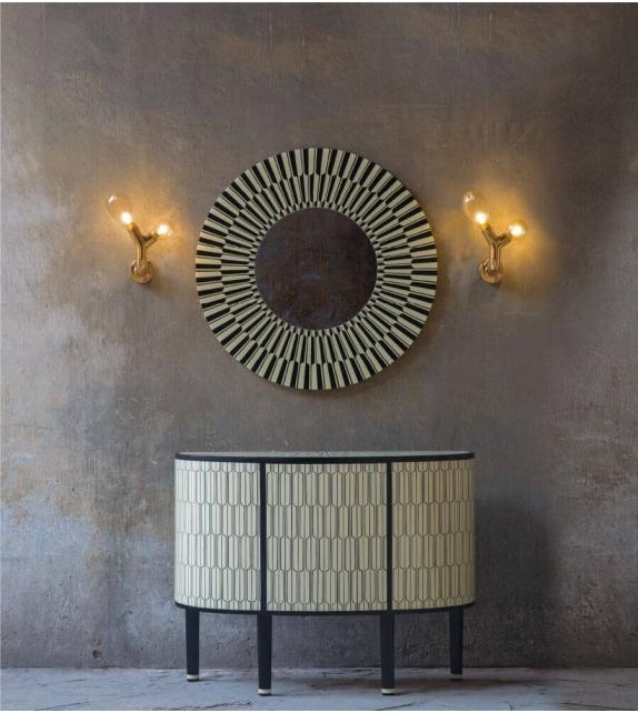 The Double Bulb Wall Light Scarlet Splendour