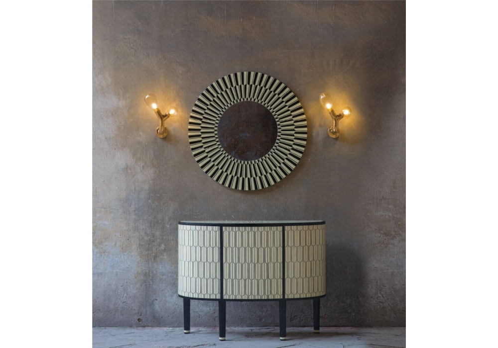 The Double Bulb Wall Light Scarlet Splendour - Milia Shop