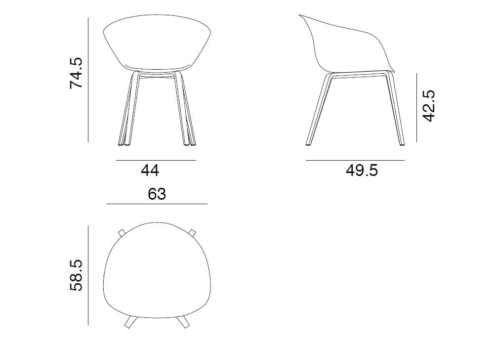Miraculous Duna 02 Arper Armchair With 4 Wooden Legs Milia Shop Machost Co Dining Chair Design Ideas Machostcouk