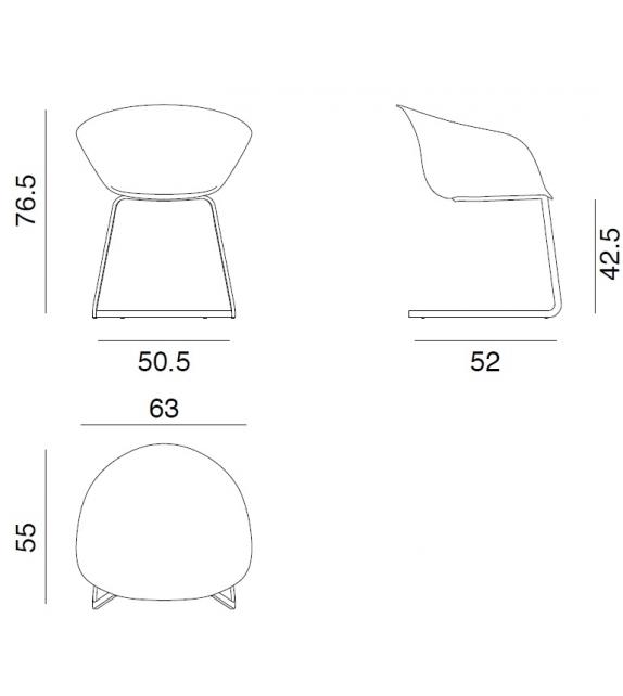 Duna 02 Arper Cantilever Armchair