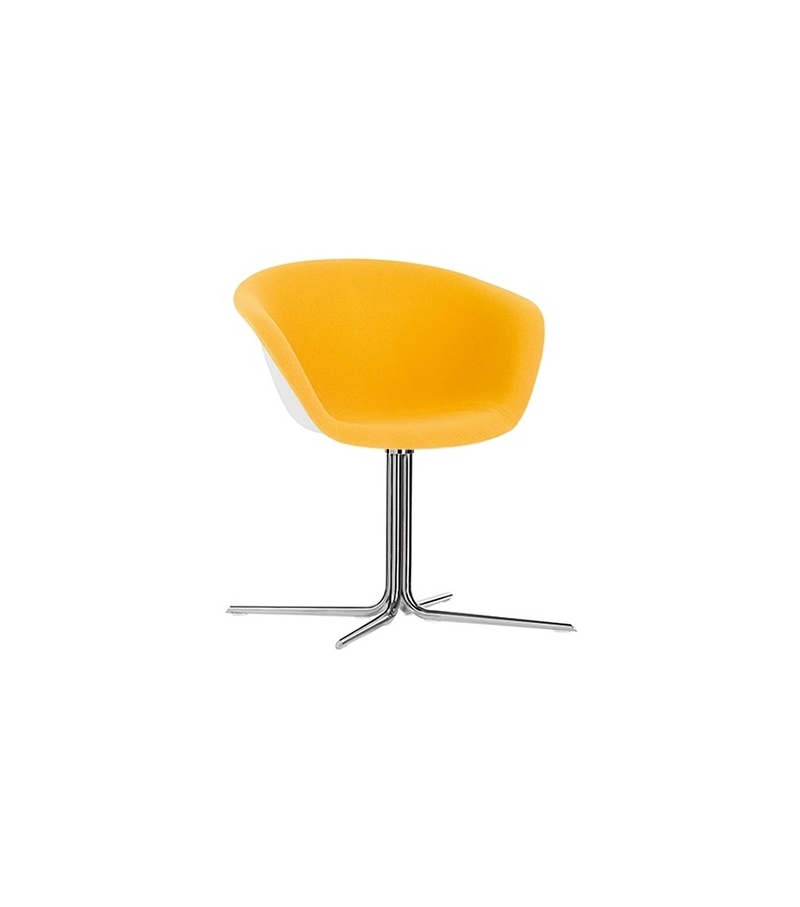 Duna 02 Arper Armchair With 4 Way Swivel Base & Front Face Upholstery
