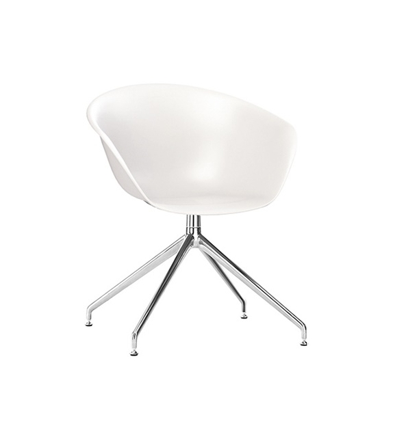 Duna 02 Arper Armchair With Trestle Swivel Base