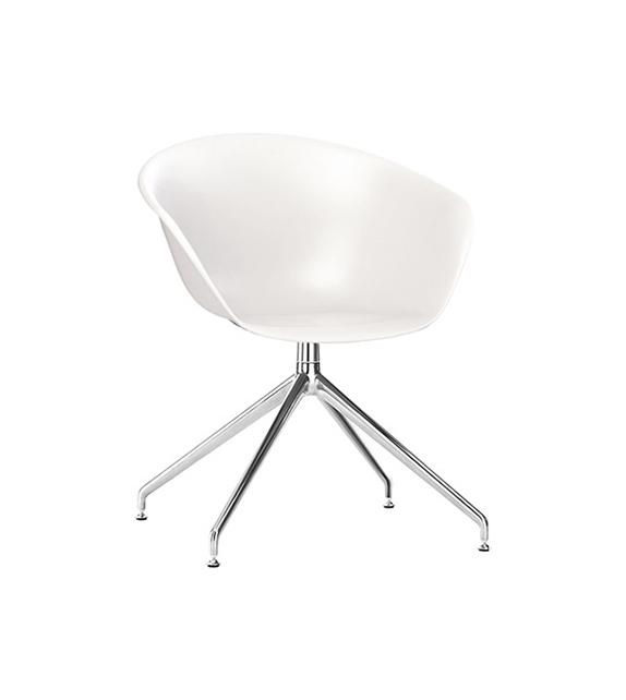 Duna 02 Arper Sessel Auf Drehbarem Spinnenfuß
