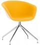 Duna 02 Arper Sessel Auf Drehbarem Spinnenfuß mit Spiegelpolster