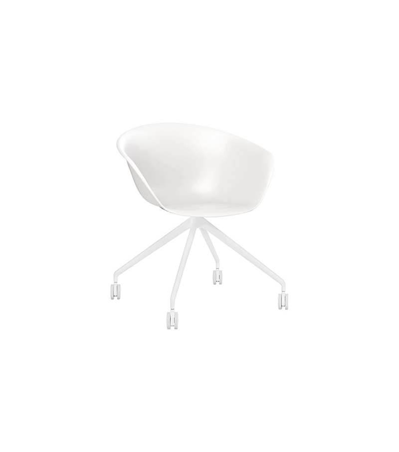 Duna 02 Arper Armchair With Trestle Fixed Base