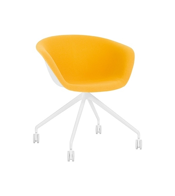 Duna 02 Arper Armchair With Trestle Fixed Base & Front Face Upholstery
