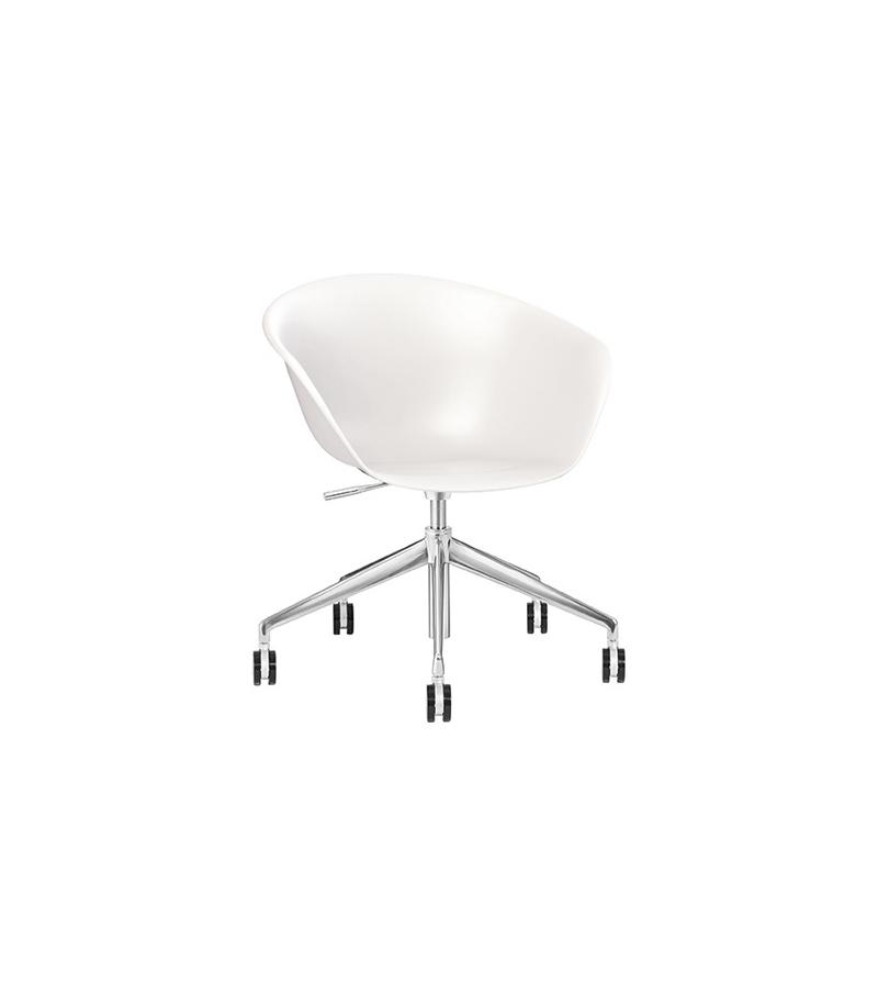 Duna 02 Arper Sessel Auf Fünfstrahligem mit Rollen