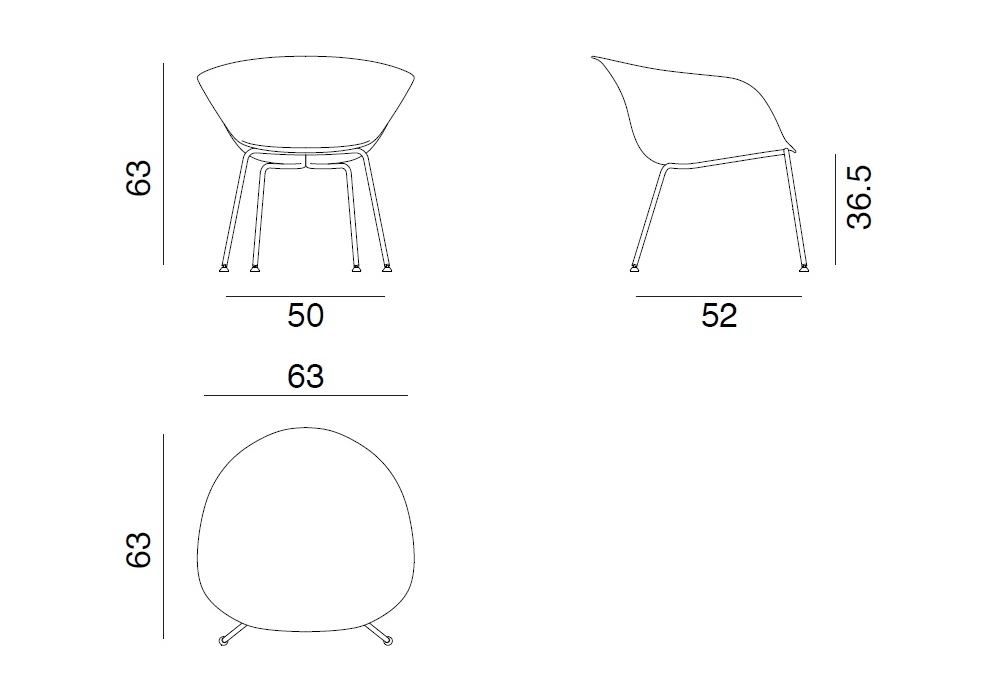 Outstanding Duna 02 Arper Lounge Armchair Machost Co Dining Chair Design Ideas Machostcouk