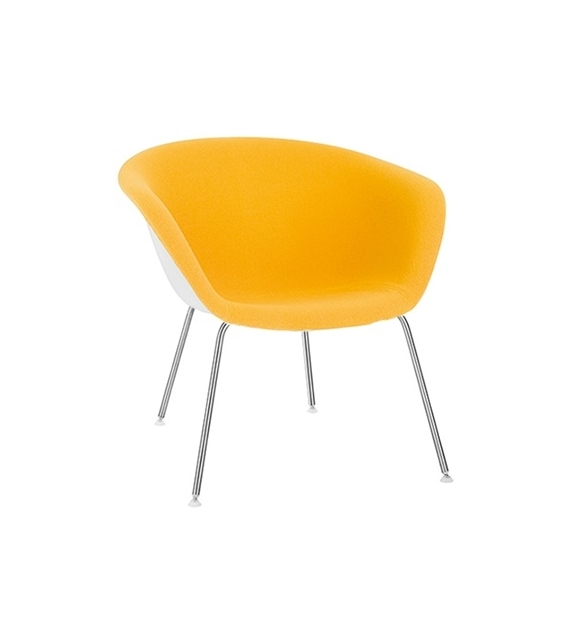 Duna 02 Arper Lounge Armchair With Front Face Upholstery