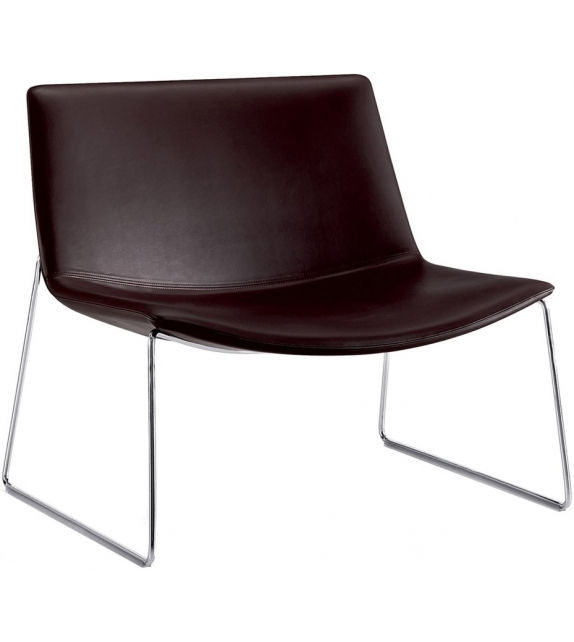 Catifa 80 Arper Lounge Armchair With Sled Base