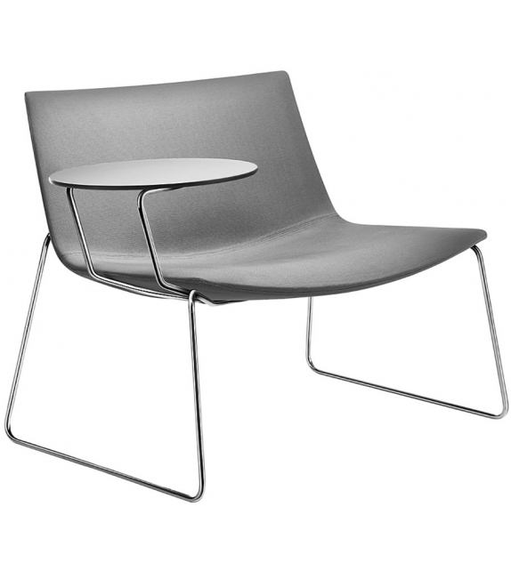 Catifa 80 Arper Lounge With Sled Base & Writing Table
