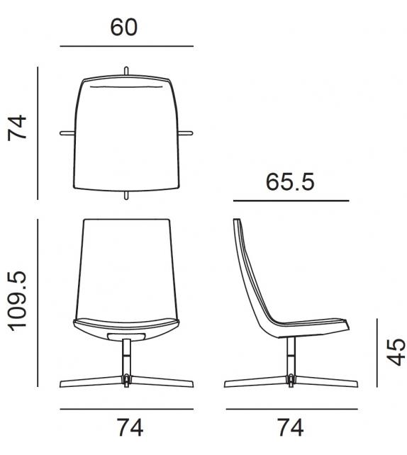 Catifa 60 Office Arper Armchair