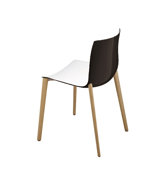 Catifa 46 Arper Chair With Wooden Legs
