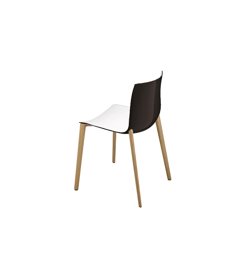 catifa 46 arper chair with wooden legs milia shop. Black Bedroom Furniture Sets. Home Design Ideas