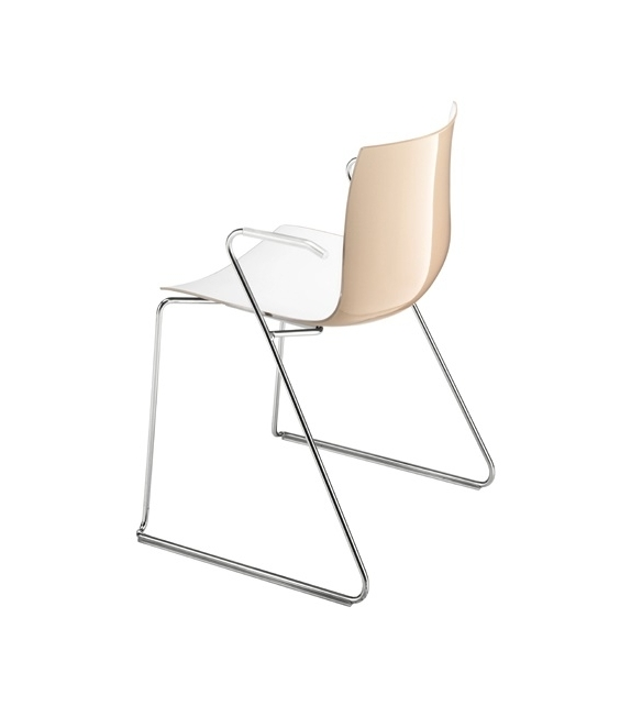 Catifa 46 Arper Chair With Technical Sled