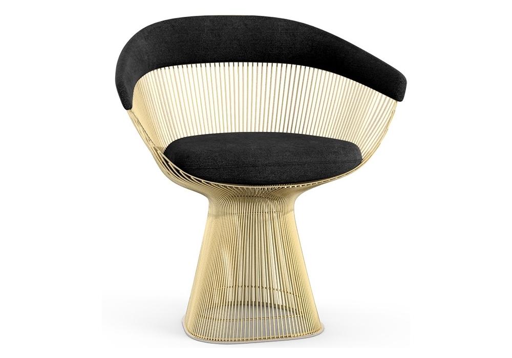 platner gold knoll klein sessel milia shop. Black Bedroom Furniture Sets. Home Design Ideas