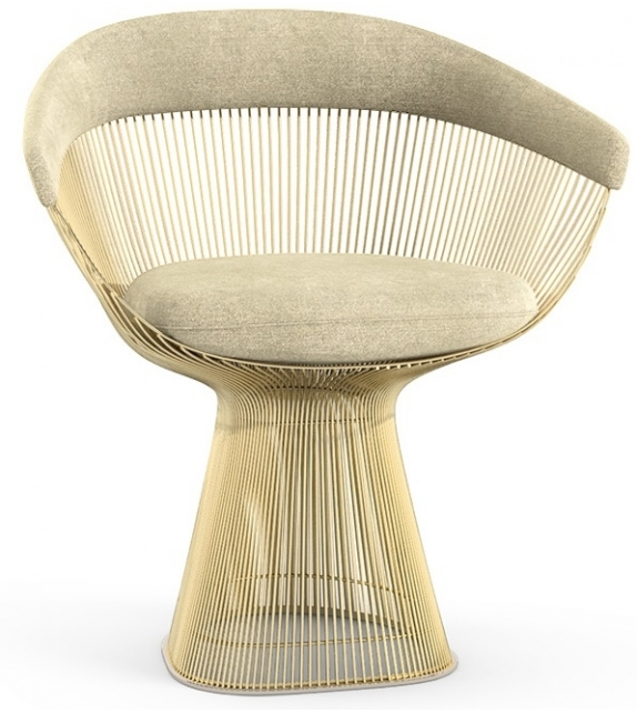 Platner Knoll Arm Chair In Gold - Milia Shop