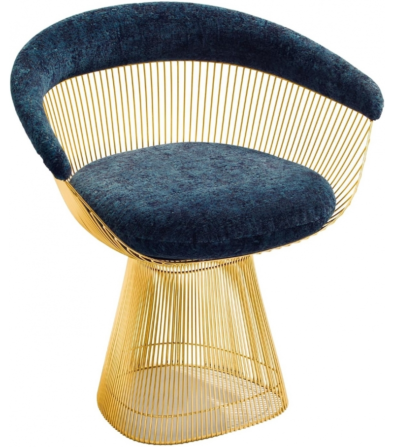Exceptional Platner Knoll Arm Chair In Gold