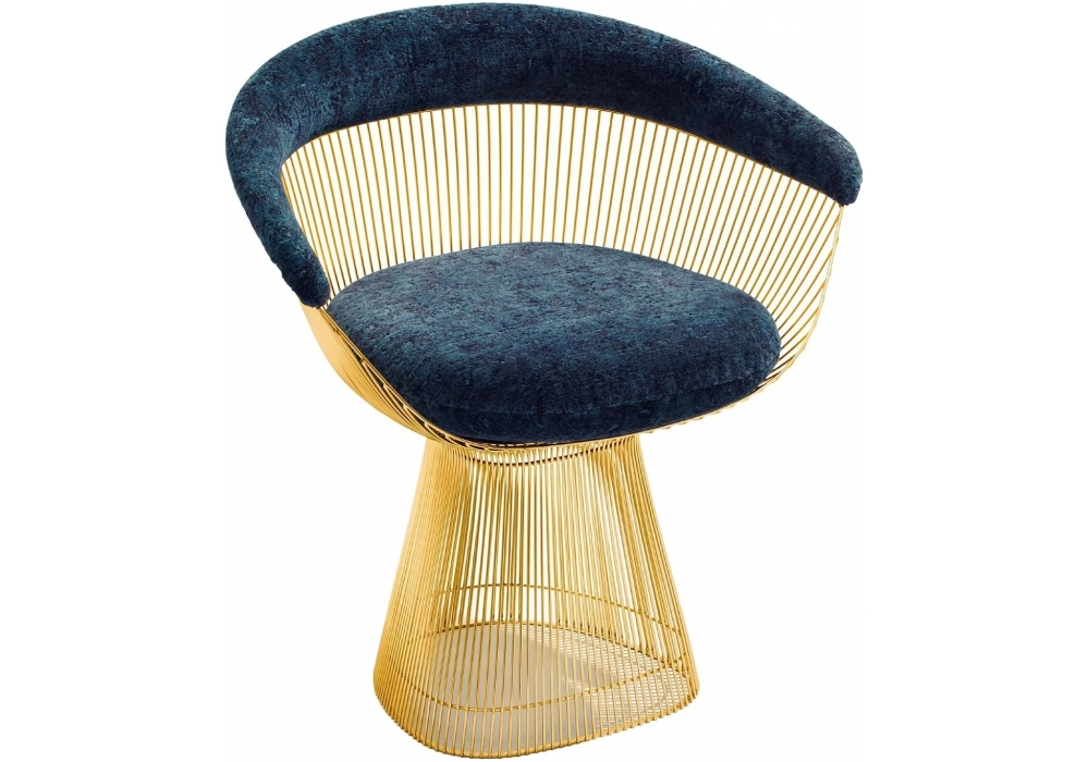 Lovely Platner Knoll Arm Chair In Gold