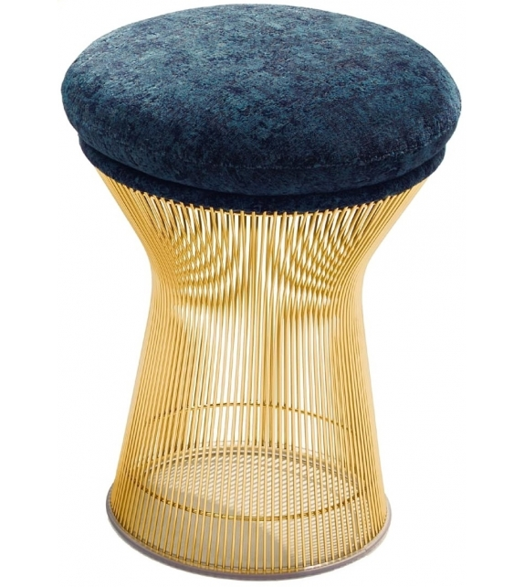 Platner Knoll Stool In Gold