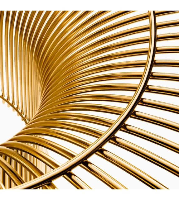 Platner Gold Knoll Sgabello