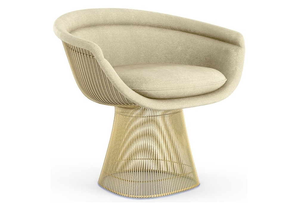 Platner Knoll Lounge Chair In Gold