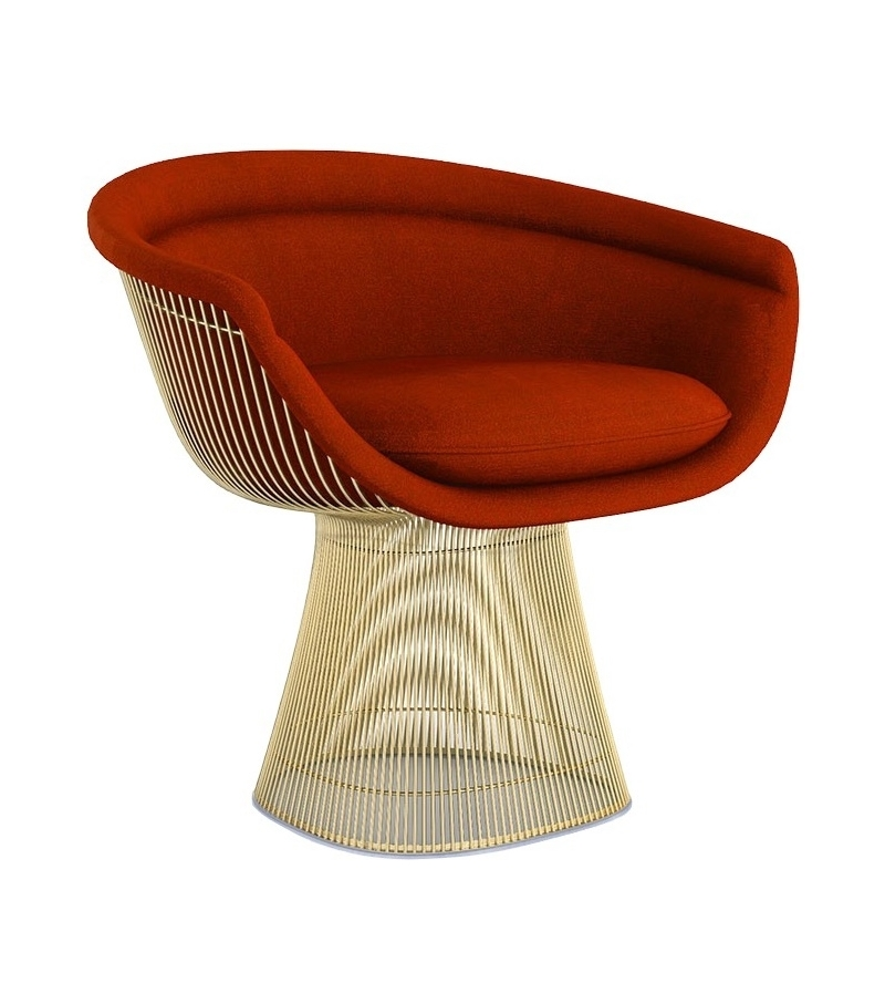 platner knoll lounge chair in gold milia shop. Black Bedroom Furniture Sets. Home Design Ideas