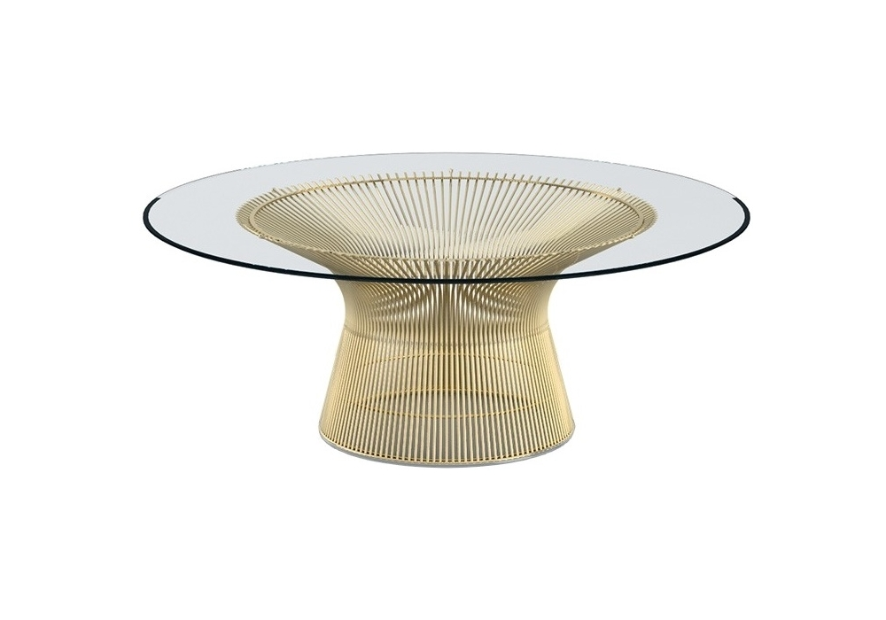 Platner Gold Knoll Petit Table