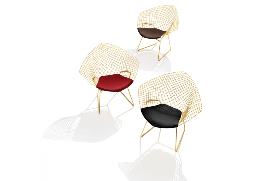 bertoia diamond knoll chair in gold milia shop. Black Bedroom Furniture Sets. Home Design Ideas