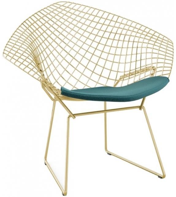 Bertoia Diamond Chair Gold Knoll Poltroncina
