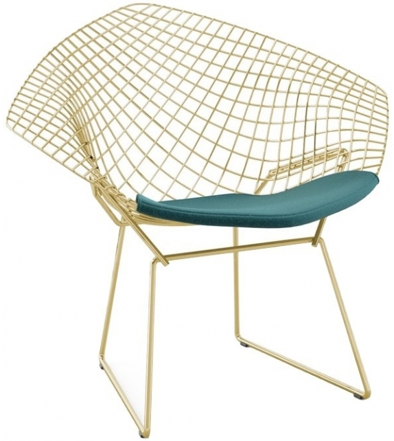 Bertoia Diamond Knoll Chair In Gold
