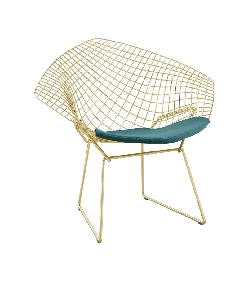 Bertoia Diamond Knoll Chair In Gold Milia Shop