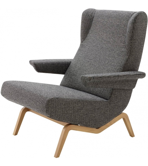 Archi Ligne Roset Armchair With Wooden Base