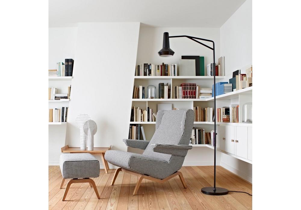 Archi Ligne Roset Armchair With Wooden Base - Milia Shop