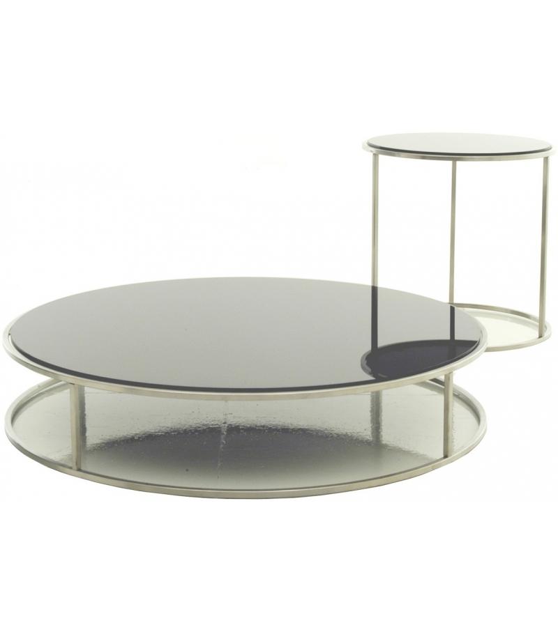 Fluoro Coffee Table Square In Matt White With Black Metal: Ile Living Divani Indoor Coffee Table