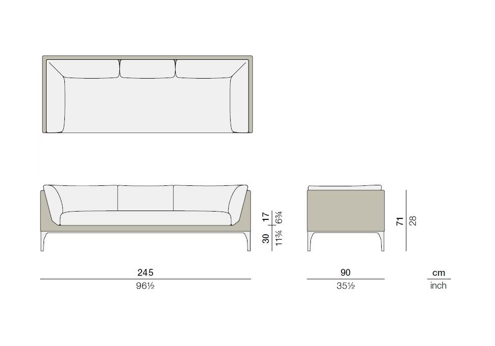 Mu Dedon Fixed Sofa - Milia Shop
