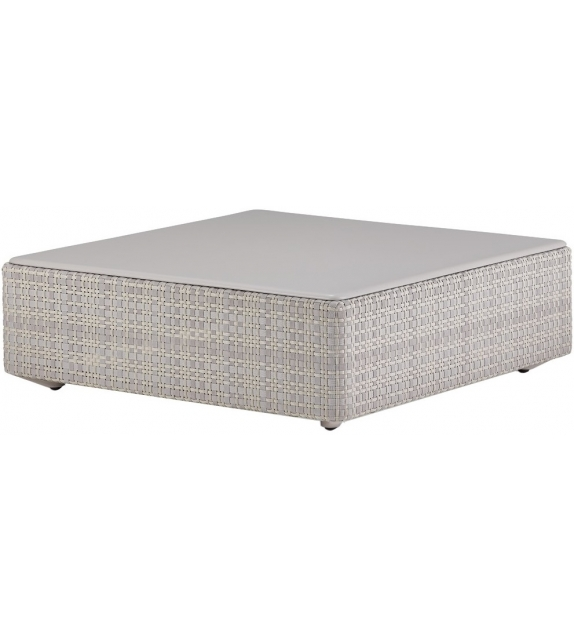 Lou Dedon Coffee Table With Monolite Top
