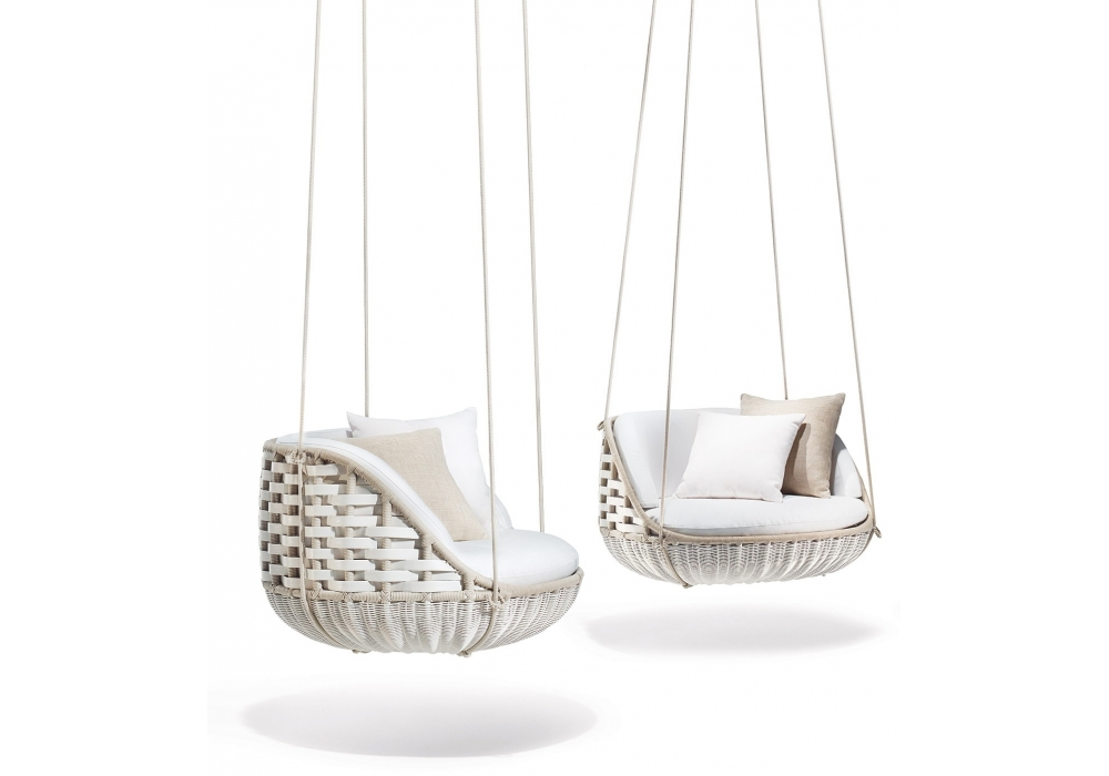 outdoor armchairs and chaise lounge swingme dedon lounge chair