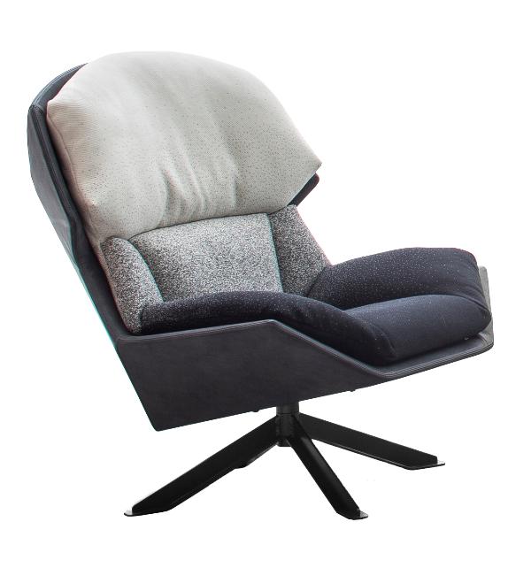 Clarissa Moroso Armchair With Metal Base