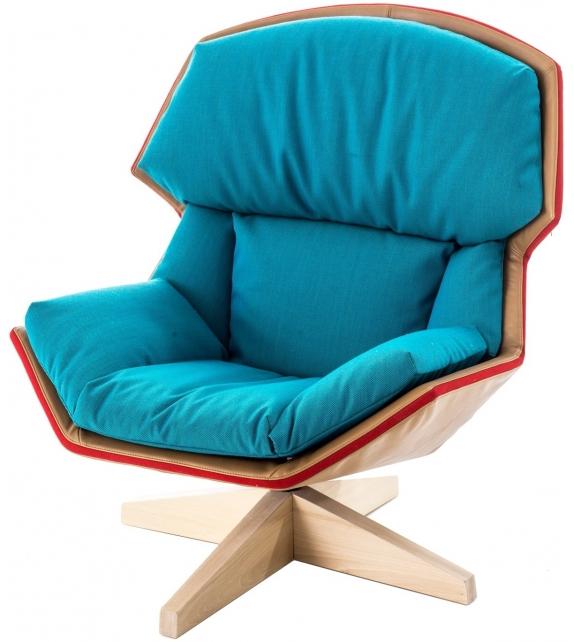 Clarissa Moroso Armchair With Wooden Base