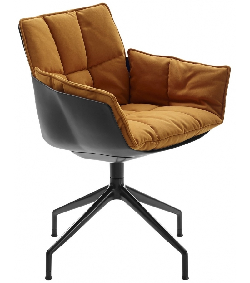 Husk b b italia swivel armchair milia shop for Large armchair