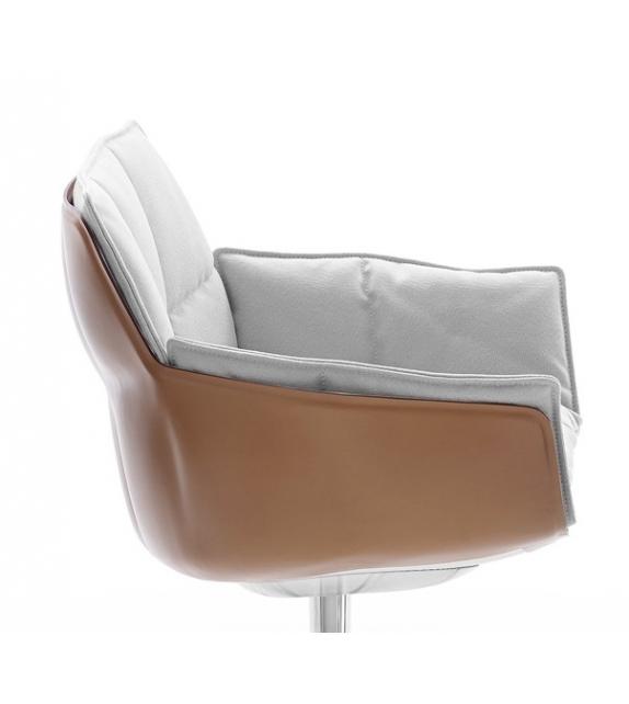 Husk B&B Italia Small Armchair With Wheels