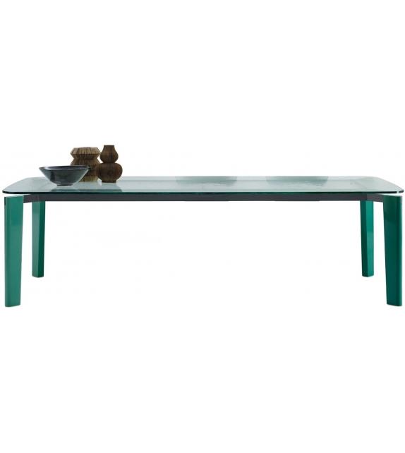 Oskar Bu0026B Italia Table With Glass Top