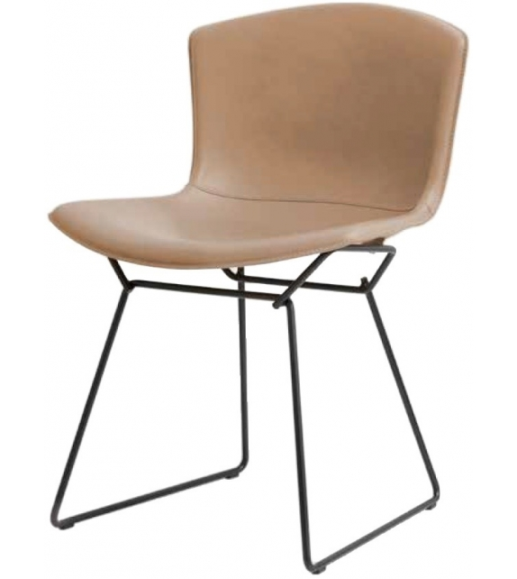 Bertoia Knoll Side Chair in Cowhide
